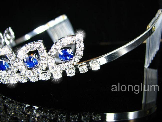 A275 11 Blue Wedding Bridal Bridesmaid Swarovski Crystal Rhinestone