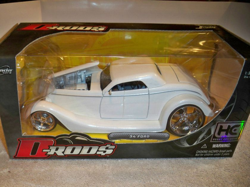 JADA 1/24 D RODS HOBBY EXCLUSIVES WHITE 34 FORD HOT ROD NEW